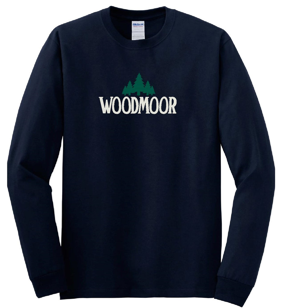 Woodmoor Long Sleeve Navy Blue Tee