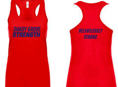 Shady Grove Strength Red Member Tanks