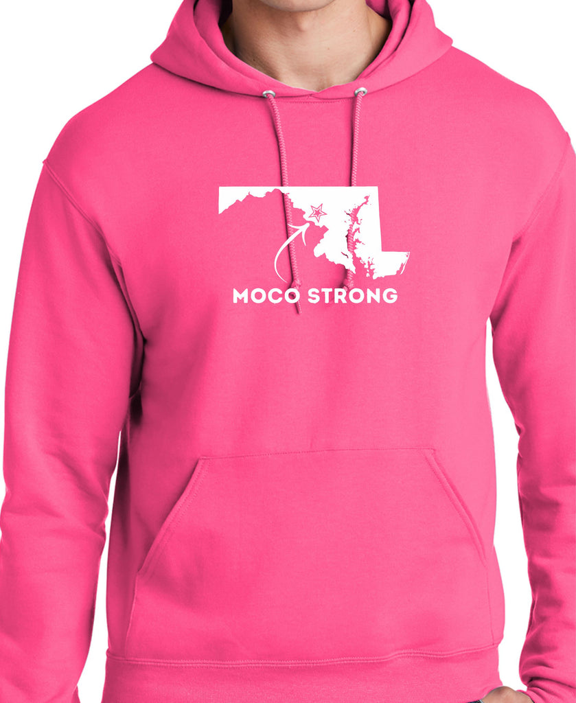 MoCo Strong Pink Hooded Sweatshirt (State)