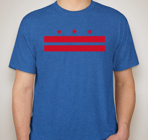 Vintage Royal DC Flag Tri-Blend Tee