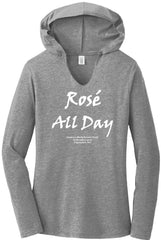 Rose All Day Perfect Tri Long Sleeve Hoodie