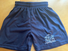 SBS Navy Blue Micromesh Gym Shorts with Logo
