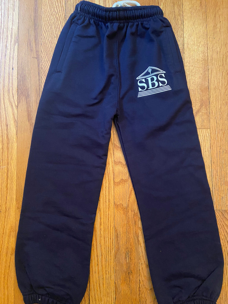 SBS Navy Blue Sweatpants with logo