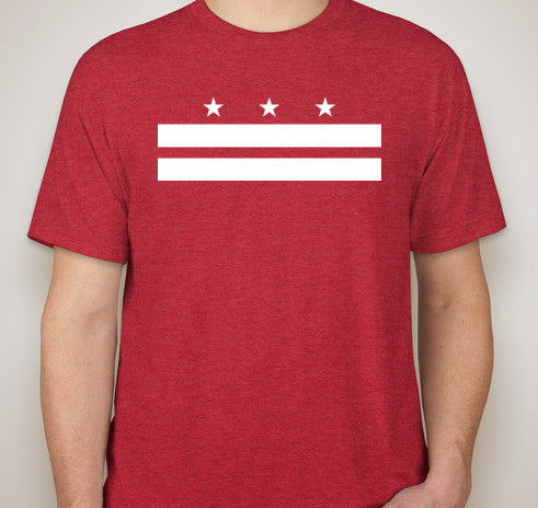 Vintage Red DC Flag Tri-Blend Tee