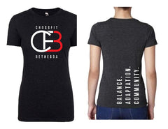 CrossFit Bethesda Ladies' Triblend Crew (Vintage Black)