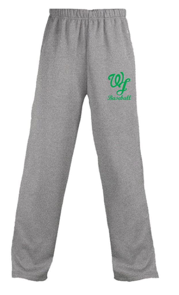 WJ Baseball Grey Cotton Sweatpants