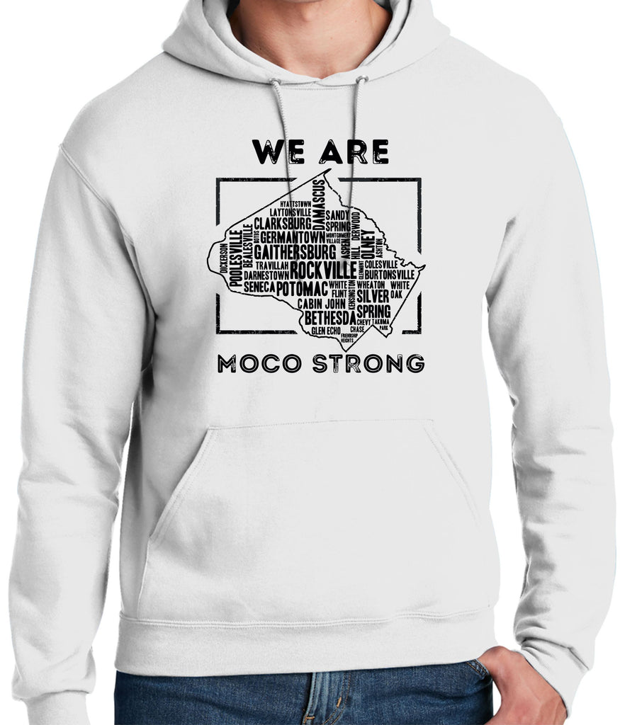 MoCo Strong White Hooded Sweatshirt