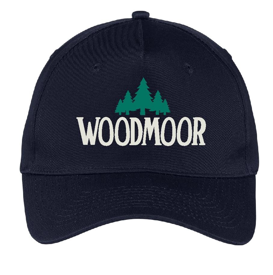 Woodmoor Navy Blue Twill Embroidered Cap
