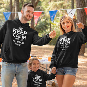 "Keep and let "" Your text"" Premium Hoodie"