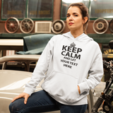 "Keep Calm And Let "" Your  Text"" Premium Female Hoodie"