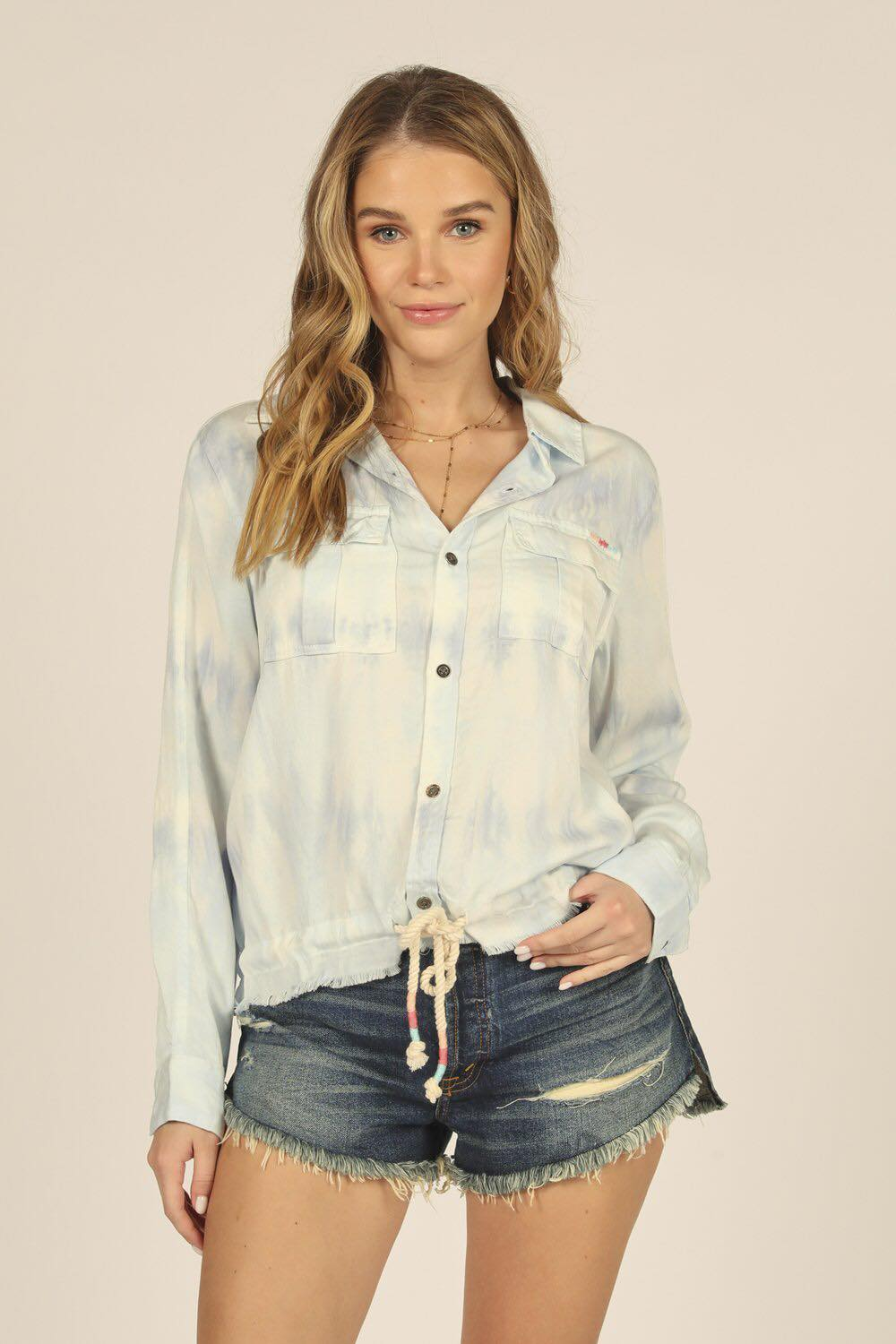 Tie Dye Button Down Shirt