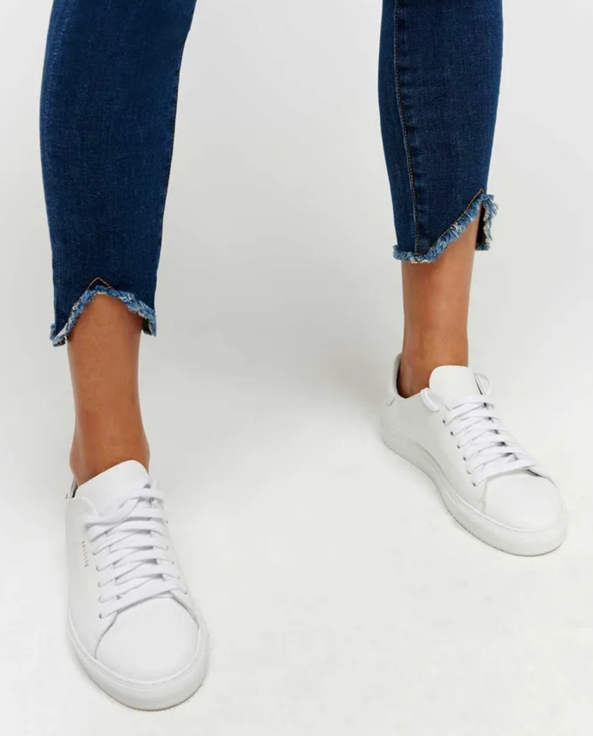 7FMK Ankle Skinny with Wave Hem