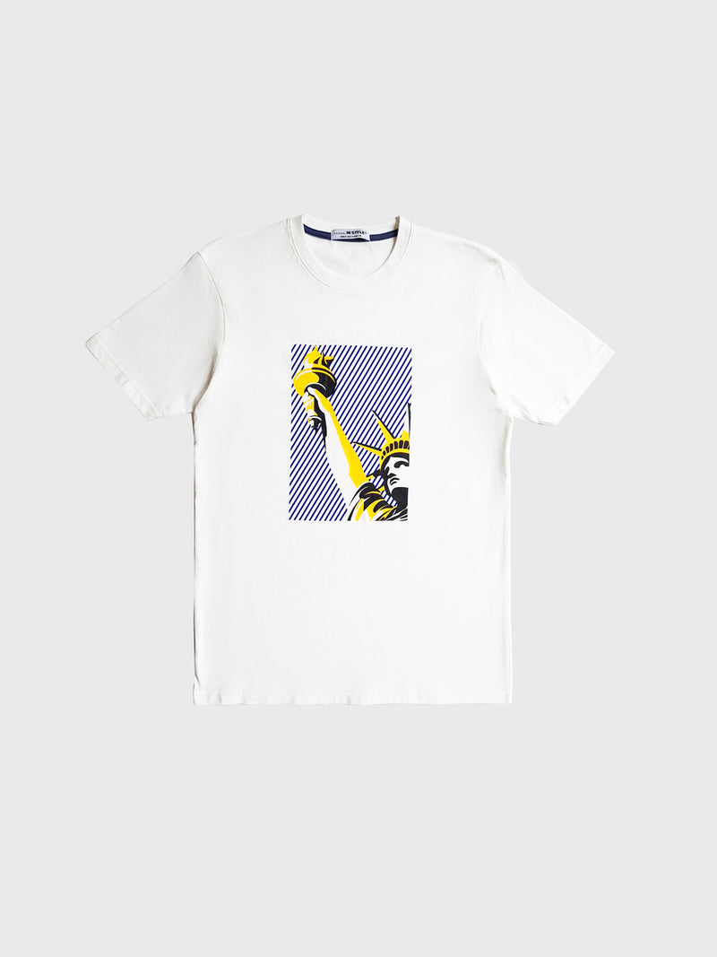 Graphic Short Sleeve Men T-Shirt - White