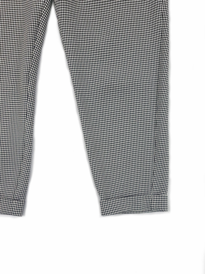 Checkered Cigarette Trouser - Black