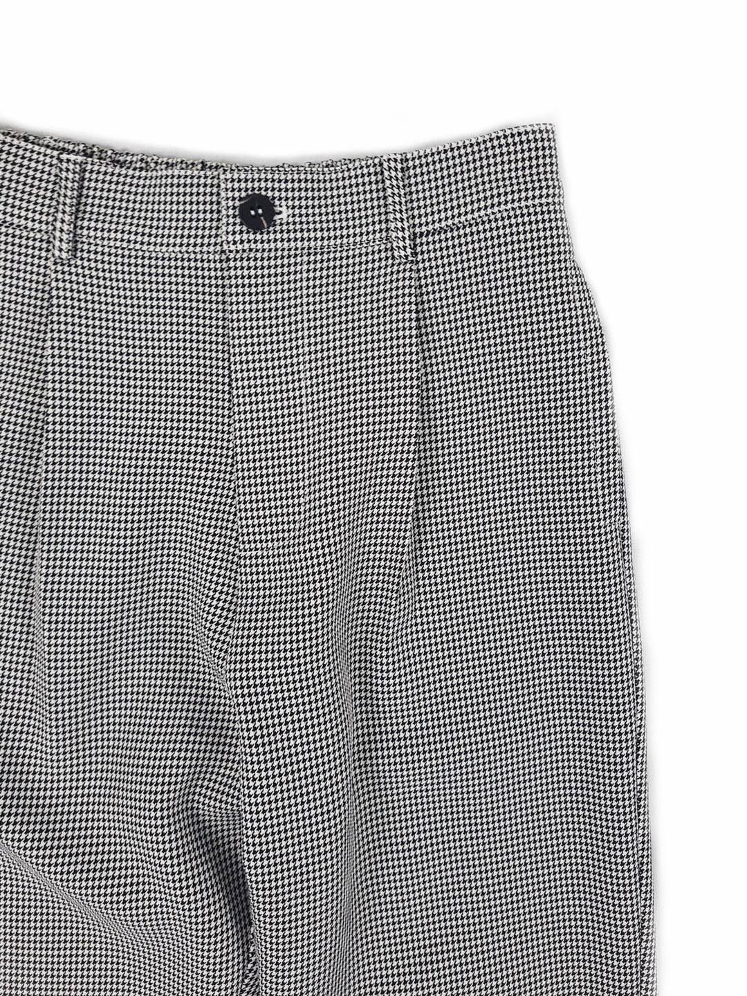 Women Checkered Cigarette Trouser - Black
