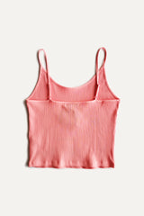 Adjustable Ribbed Camisole - Pink