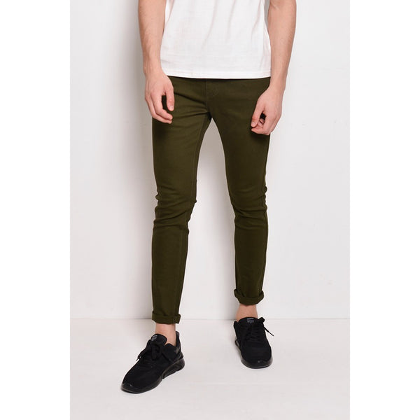Skinny Long Jeans - Dark Green