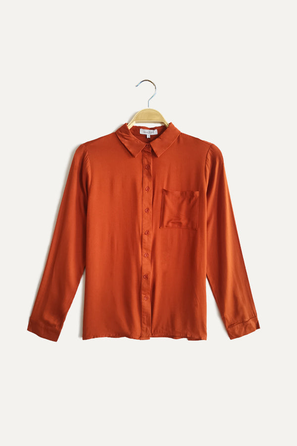 Long Sleeve Shirt - Brown