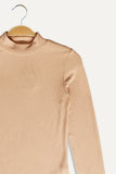 Women Long sleeve Blouse - Beige