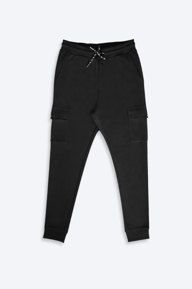 Long Knit Jogger - Black