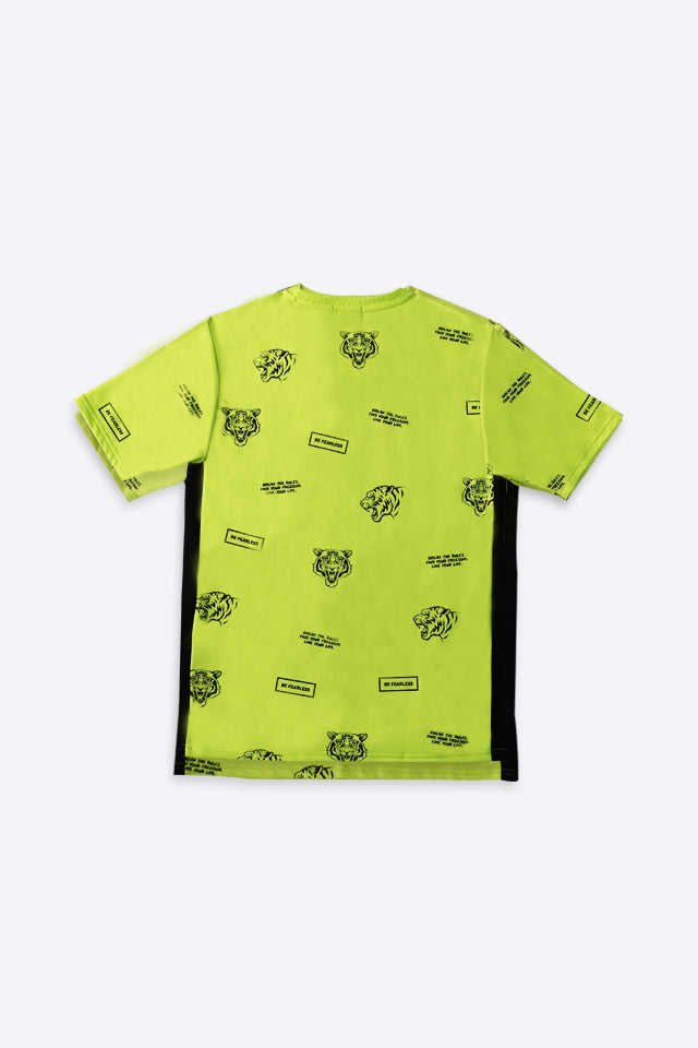 Graphic Short Sleeve T-Shirt - Light Green