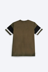Graphic Short Sleeve T-Shirt - Dark Green