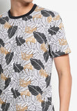 Men Full Print Short Sleeve T-Shirt - Black - RFS1H2625