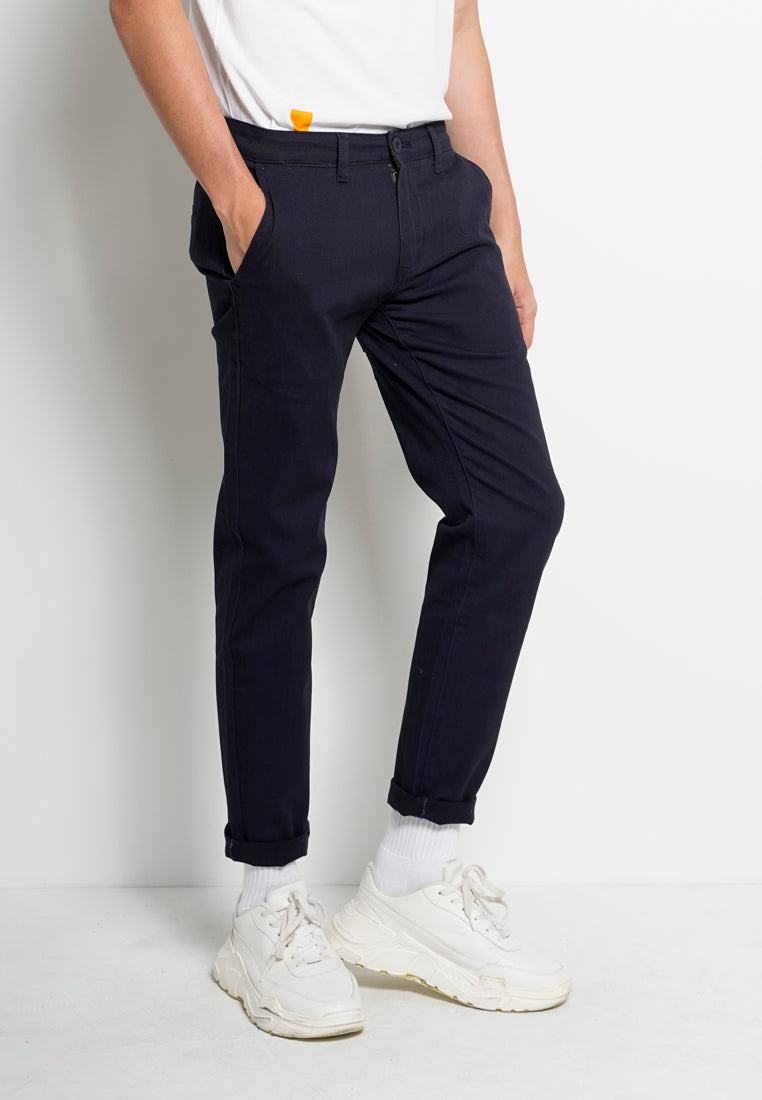 Men Long Pants Slim Fit - Navy