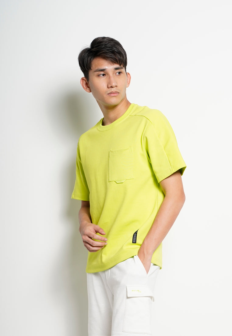 Men Oversize Fashion Short Sleeve Tee  - Neon Green