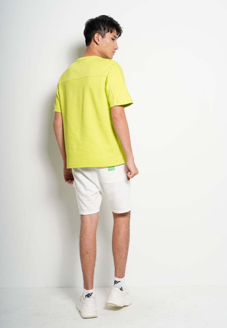 Men Oversize Fashion Short Sleeve Tee  - Neon Green - XGH20H2655