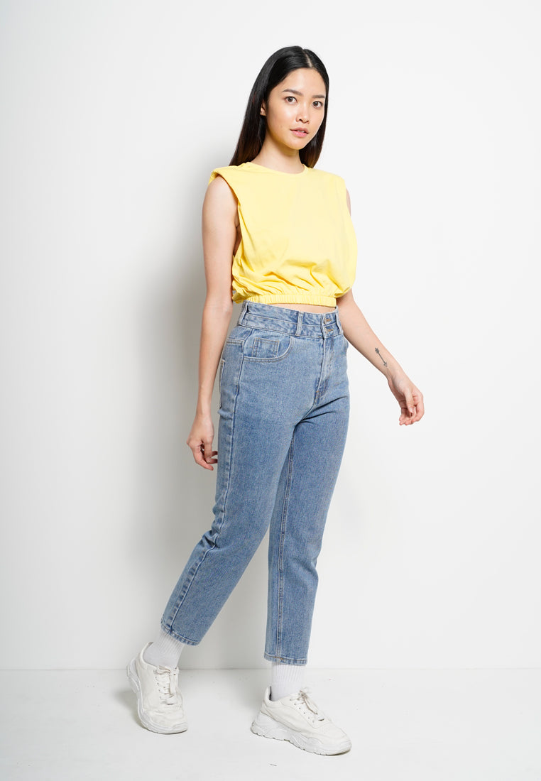 Long Jeans Wide Leg - Blue
