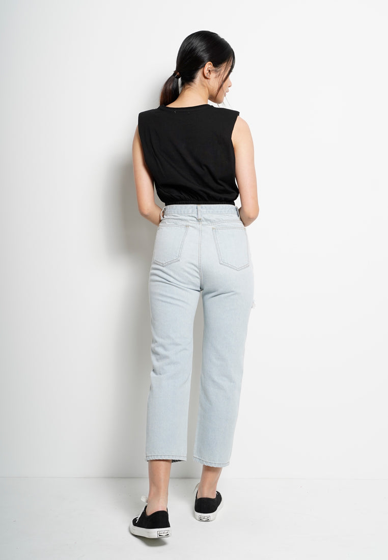Long Jeans Wide Leg - Light Blue