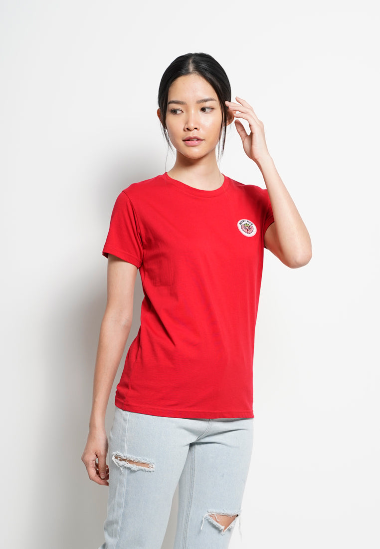 Women Graphic Short Sleeve T-Shirt - Red - RFS1F2387