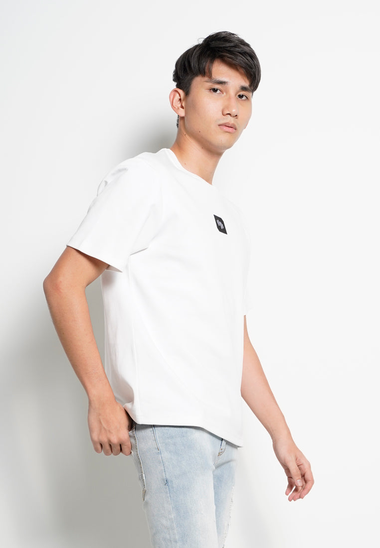 Men Short Sleeve Slogan Fashion Tee [VALENTINE] - White