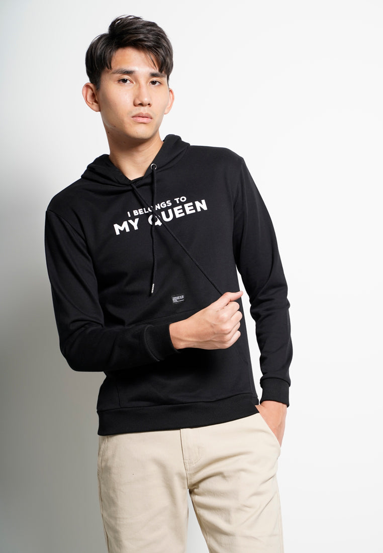 Men Long Sleeve Sweatshirt [VALENTINE] - Black