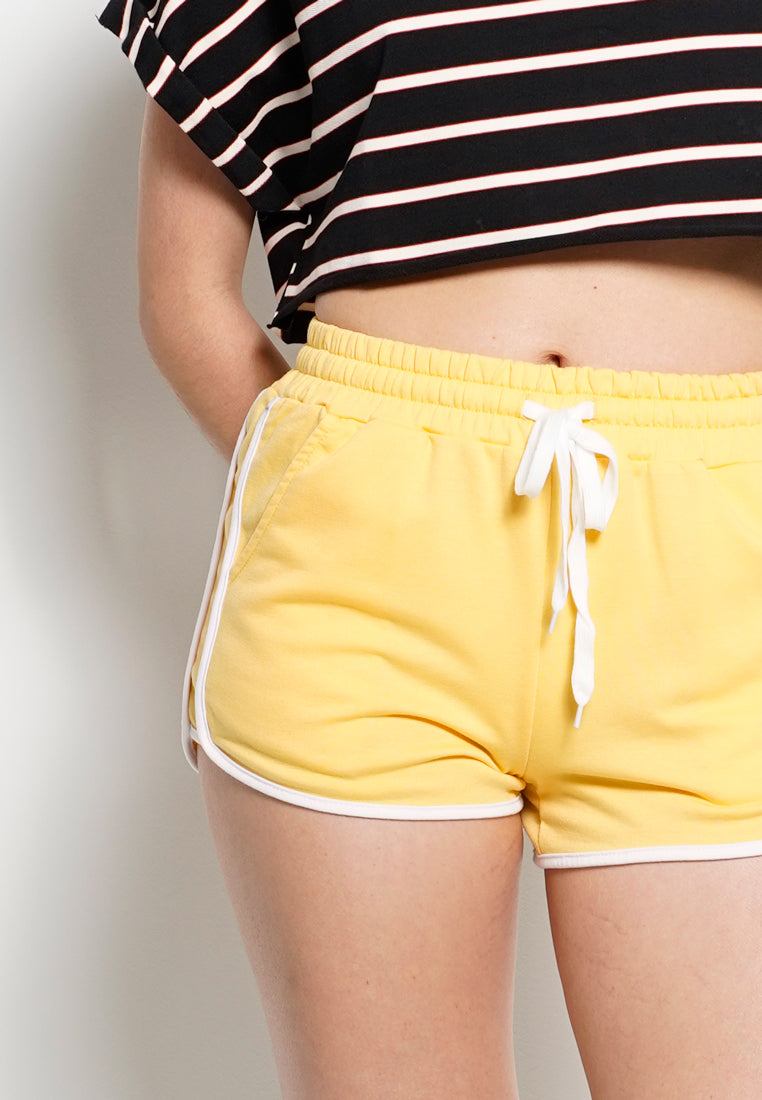 Women Short Jogger  - Yellow
