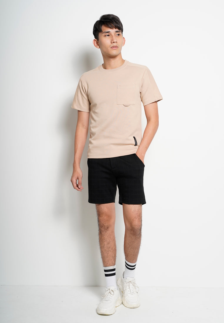 Men Oversize Fashion Short Sleeve Tee  - Khaki