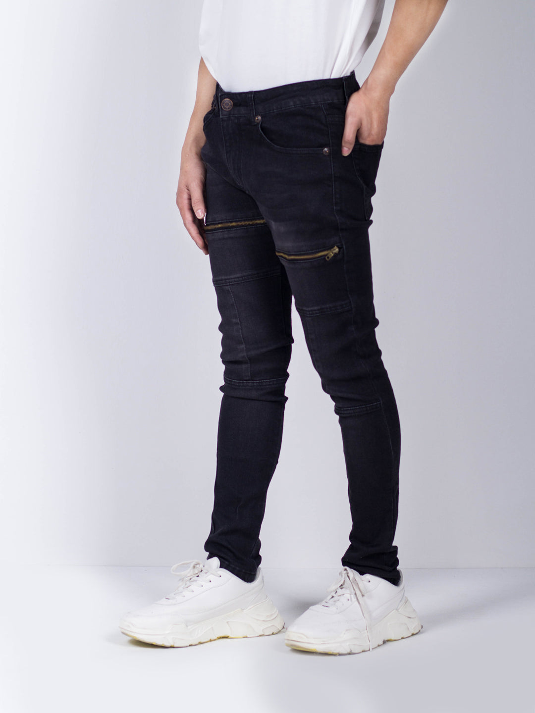 Men Fashion Long Pants - Black