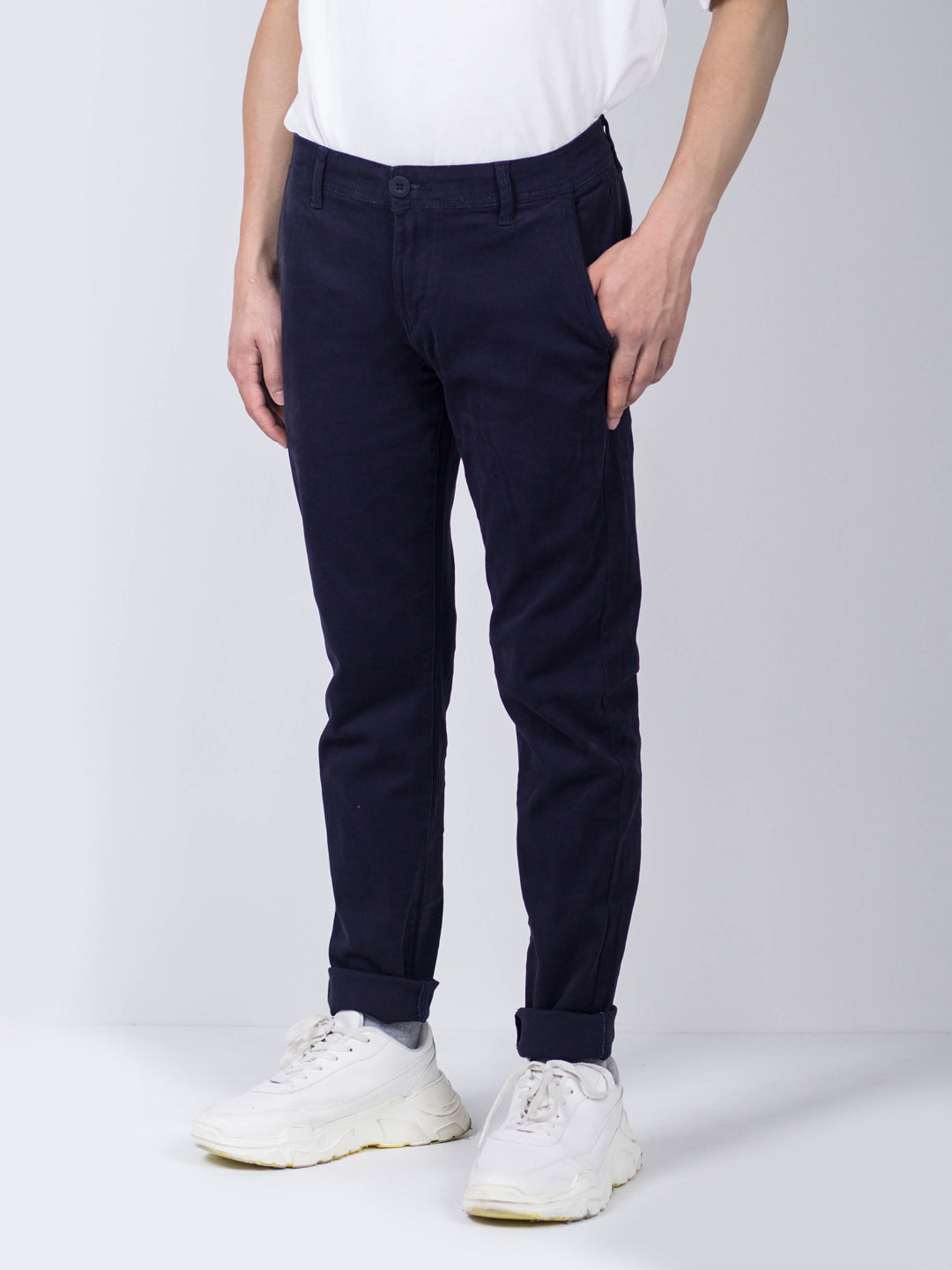 Men Long Pants Slim Fit - Navy - KQM9H1646