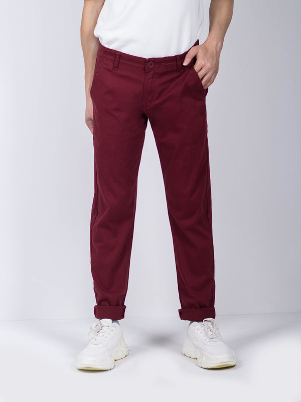 Long Pants Slim Fit - Maroon
