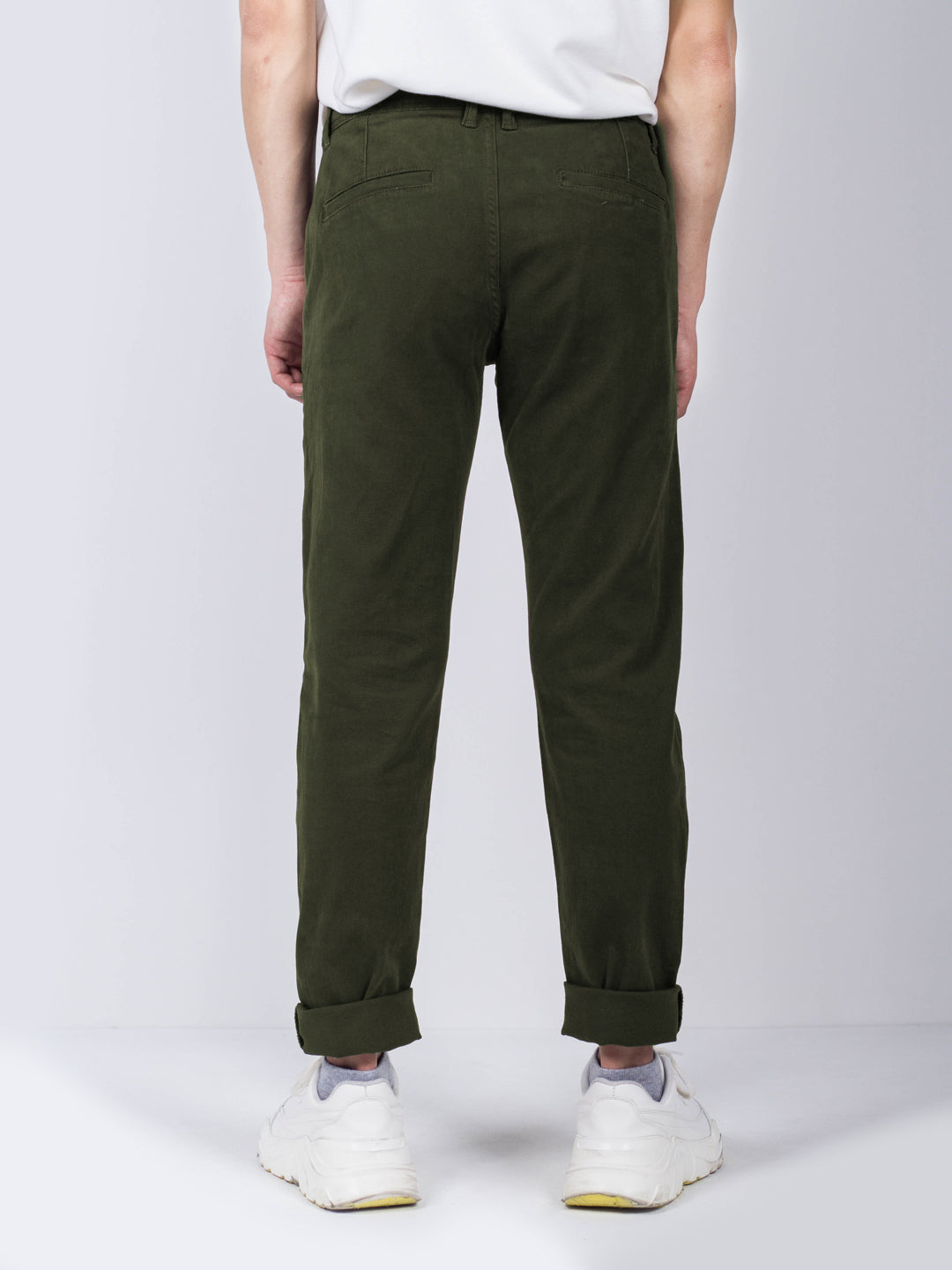 Men Long Pants Slim Fit - Dark Green