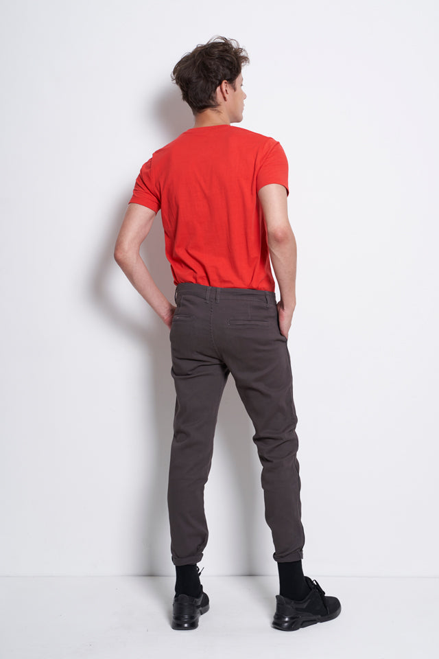 Slim Fit Long Pants - Dark Grey