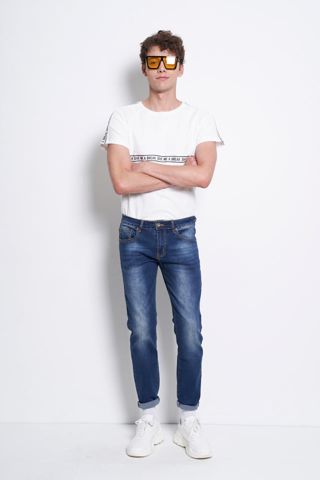 Slim Fit Long Jeans - Blue