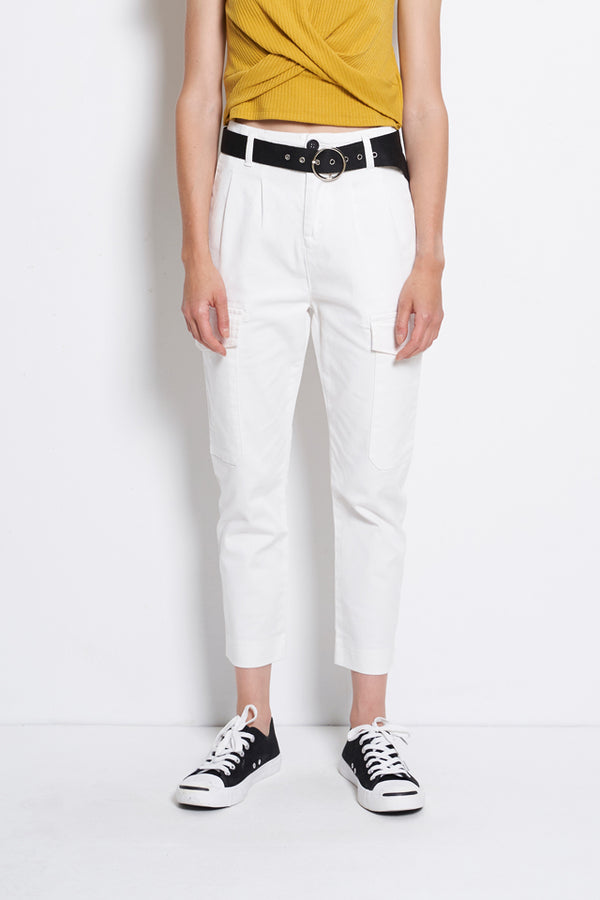 Cargo Trouser With Front Pocket - White