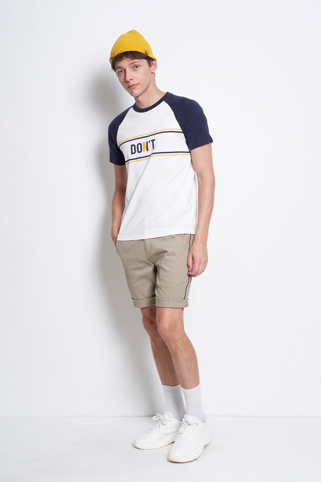Short Raglan Sleeve Graphic Tee - Navy