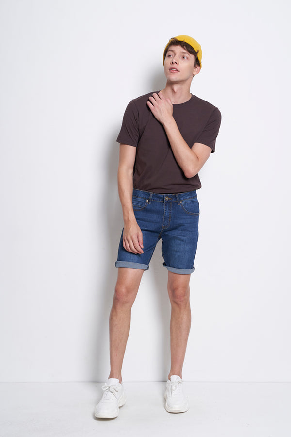 Slim Fit Short Jeans - Blue