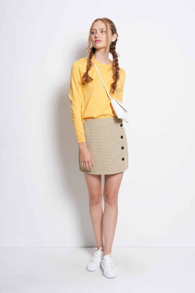 Long Sleeve Knitwear - Yellow