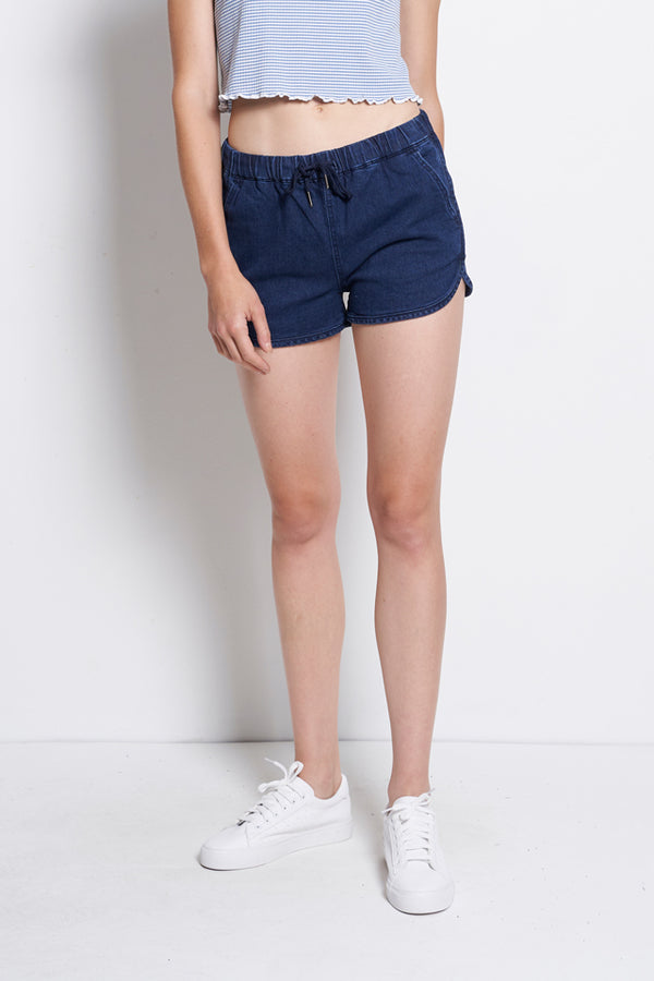Short Denim Jogger - Dark Blue