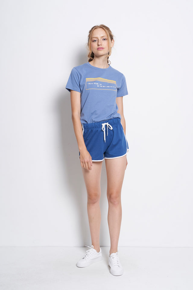 Women Short Jogger - Blue - YCF9F1766
