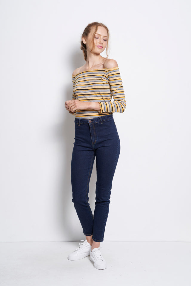Skinny Fit Long Jeans - Dark Blue
